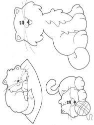 plansa de colorat animale pisici de colorat p66