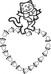 plansa de colorat animale pisici de colorat p69