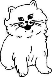 plansa de colorat animale pisici de colorat p72