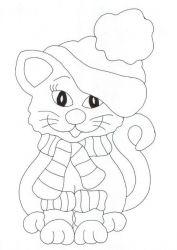 plansa de colorat animale pisici de colorat p73