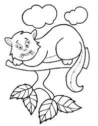 plansa de colorat animale pisici de colorat p74