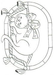 plansa de colorat animale pisici de colorat p77