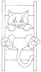 plansa de colorat animale pisici de colorat p78