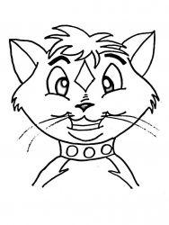 plansa de colorat animale pisici de colorat p80