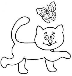 plansa de colorat animale pisici de colorat p81