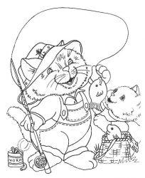 plansa de colorat animale pisici de colorat p83
