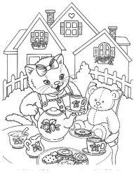 plansa de colorat animale pisici de colorat p84