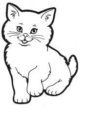 plansa de colorat animale pisici de colorat p89