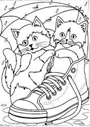 plansa de colorat animale pisici de colorat p90