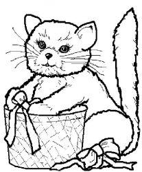 plansa de colorat animale pisici de colorat p93