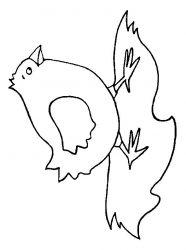 plansa de colorat animale pui de colorat p20