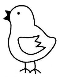 plansa de colorat animale pui de colorat p23
