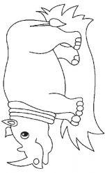 plansa de colorat animale rinoceri de colorat p02