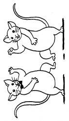 plansa de colorat animale soricei de colorat p48