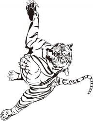 plansa de colorat animale tigri de colorat p25