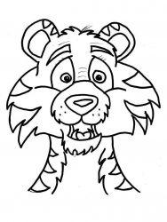 plansa de colorat animale tigri de colorat p28
