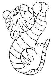 plansa de colorat animale tigri de colorat p36