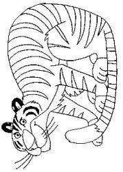 plansa de colorat animale tigri de colorat p37