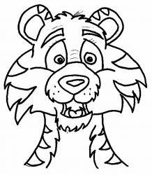 plansa de colorat animale tigri de colorat p48