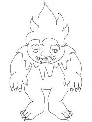 plansa de colorat animale troli de colorat p01