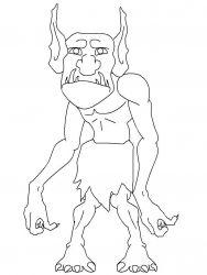 plansa de colorat animale troli de colorat p02