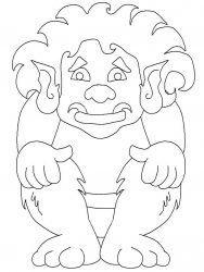 plansa de colorat animale troli de colorat p05