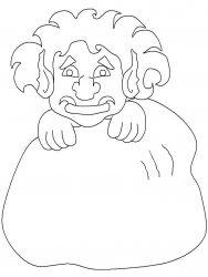 plansa de colorat animale troli de colorat p07