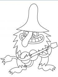 plansa de colorat animale troli de colorat p09