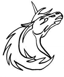 plansa de colorat animale unicorni de colorat p05