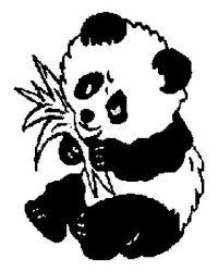 plansa de colorat animale ursi panda de colorat p06
