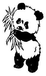 plansa de colorat animale ursi panda de colorat p07