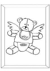 plansa de colorat animale ursuleti de colorat p01