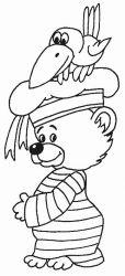 plansa de colorat animale ursuleti de colorat p100