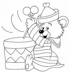 plansa de colorat animale ursuleti de colorat p102