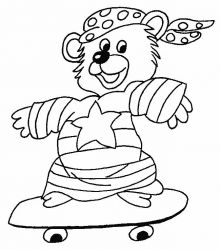 plansa de colorat animale ursuleti de colorat p104