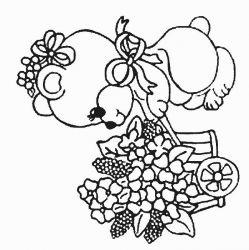 plansa de colorat animale ursuleti de colorat p105
