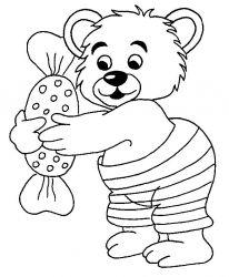 plansa de colorat animale ursuleti de colorat p108
