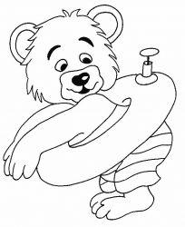 plansa de colorat animale ursuleti de colorat p109