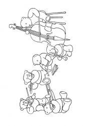 plansa de colorat animale ursuleti de colorat p11
