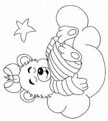 plansa de colorat animale ursuleti de colorat p110