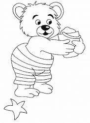 plansa de colorat animale ursuleti de colorat p113