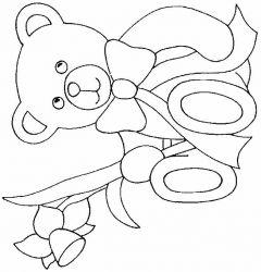 plansa de colorat animale ursuleti de colorat p114