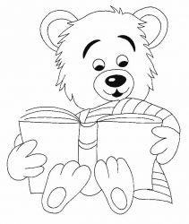 plansa de colorat animale ursuleti de colorat p116