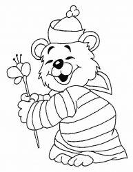 plansa de colorat animale ursuleti de colorat p118