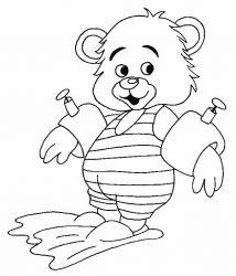 plansa de colorat animale ursuleti de colorat p119