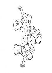 plansa de colorat animale ursuleti de colorat p12