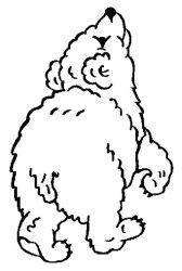 plansa de colorat animale ursuleti de colorat p124