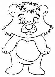 plansa de colorat animale ursuleti de colorat p128