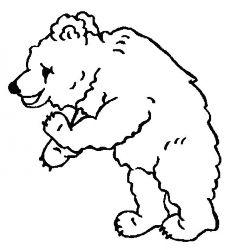 plansa de colorat animale ursuleti de colorat p133