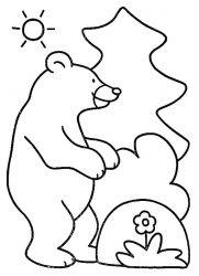 plansa de colorat animale ursuleti de colorat p135